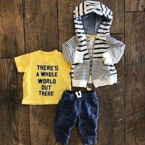 Carters Adventure Hoodie T Shirt Pants Outfit